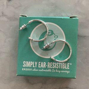 Origami Owl Hoop Earrings-Brand New in Box!